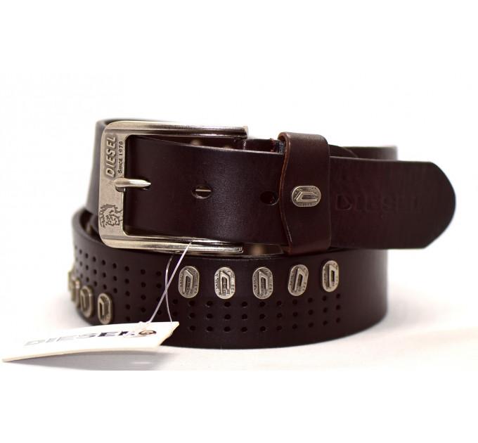 Мужской ремень джинсовый Exclusive DS40-018 коричневый