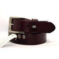 Мужской ремень джинсовый Exclusive DS40-020 коричневый