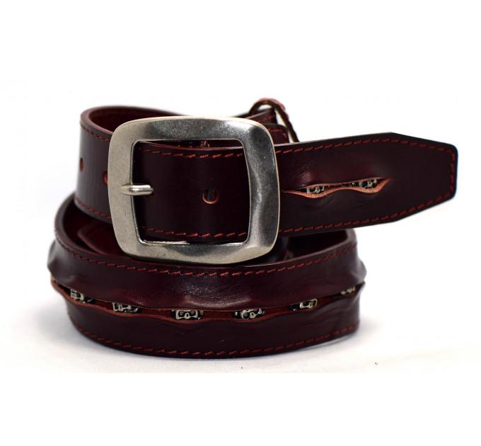 Мужской ремень джинсовый Exclusive DS40-024 коричневый