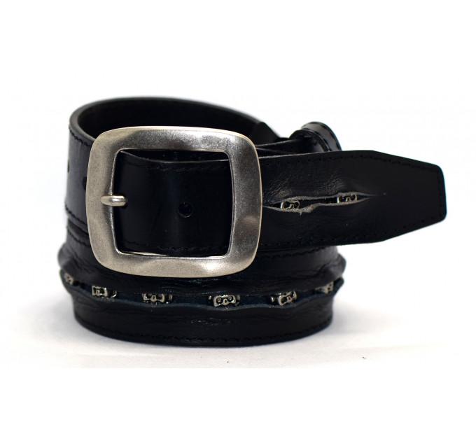 Мужской ремень джинсовый Exclusive DS40-025 черный