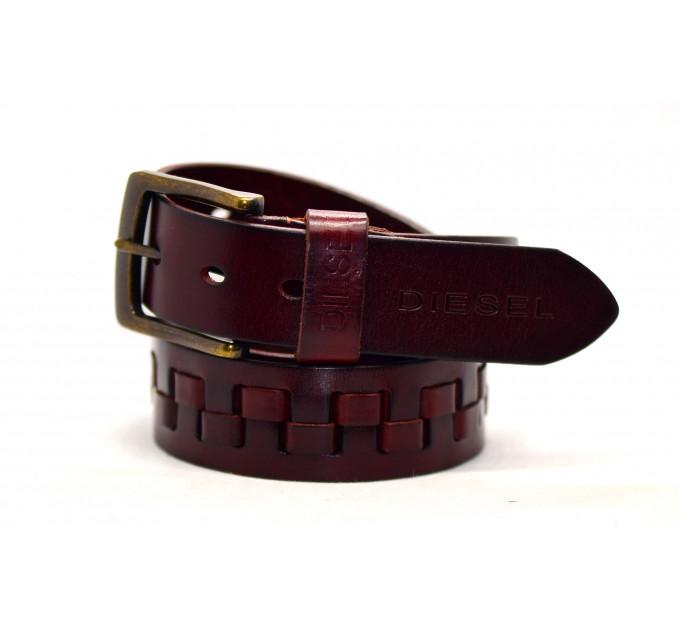 Мужской ремень джинсовый Exclusive DS40-027 коричневый
