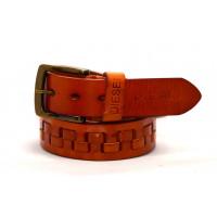 Мужской ремень джинсовый Exclusive DS40-028 коричневый