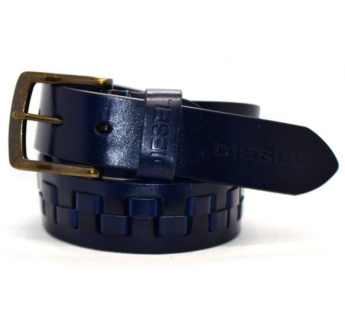 Мужской ремень джинсовый Exclusive DS40-029 синий