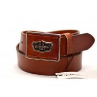 Мужской ремень джинсовый Exclusive DS40-034 коричневый