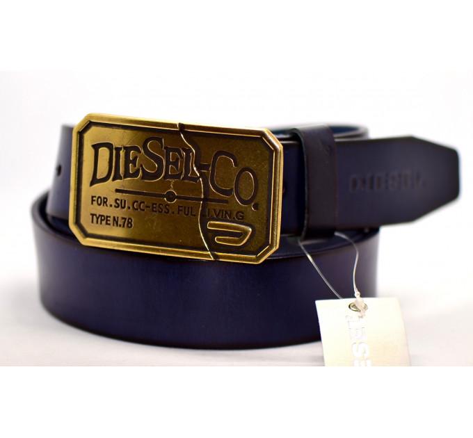 Мужской ремень джинсовый Exclusive DS40-041 синий