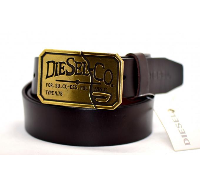 Мужской ремень джинсовый Exclusive DS40-042 коричневый