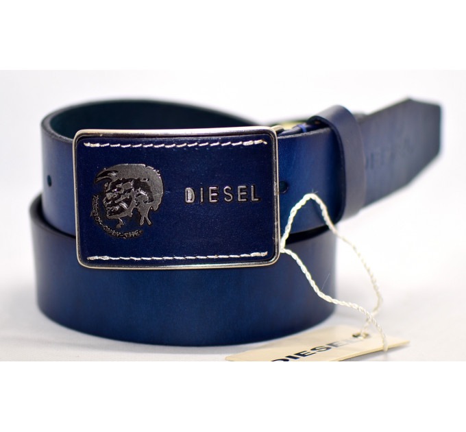 Мужской ремень джинсовый Exclusive DS40-046 синий
