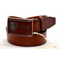 Мужской ремень джинсовый Exclusive DS40-047 коричневый
