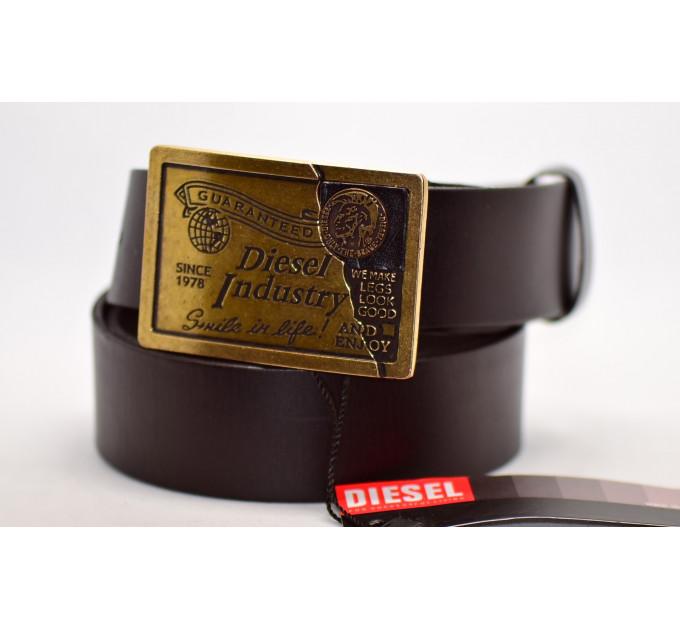 Мужской ремень джинсовый Exclusive DS40-049 коричневый