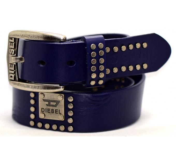 Мужской ремень джинсовый Exclusive DS40-052 синий