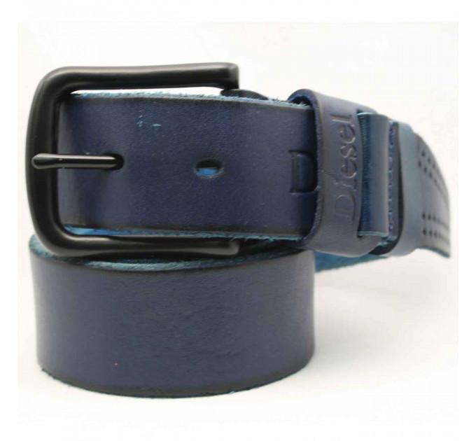 Мужской ремень джинсовый Exclusive DS40-062 синий