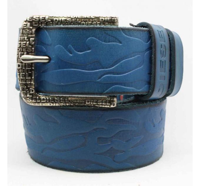 Мужской ремень джинсовый Exclusive DS40-064 синий