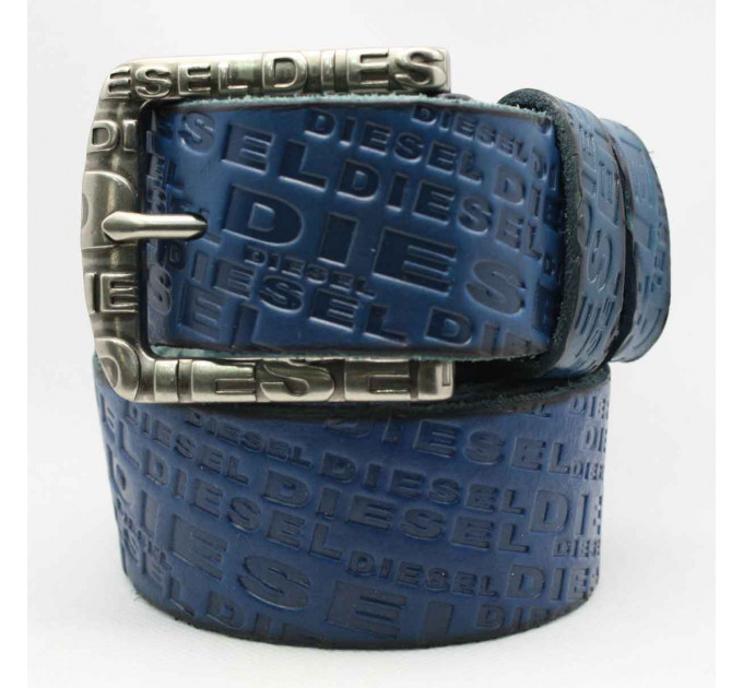 Мужской ремень джинсовый Exclusive DS40-066 синий