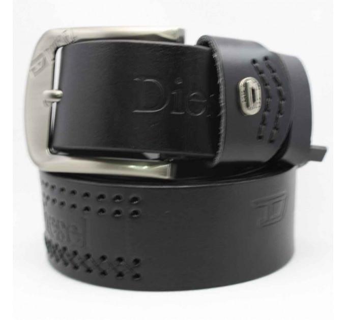 Мужской ремень джинсовый Exclusive DS40-076 черный