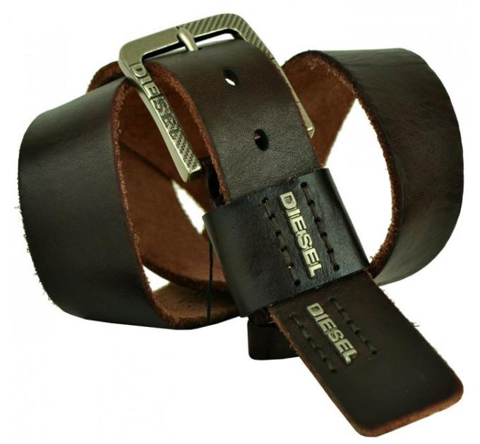 Мужской ремень джинсовый Exclusive DS40-083 коричневый