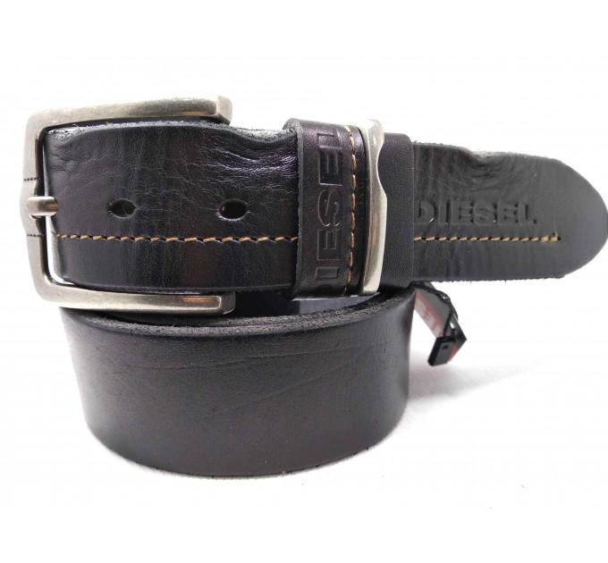 Мужской ремень джинсовый Exclusive DS40-093 черный