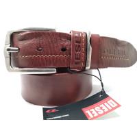 Мужской ремень джинсовый Exclusive DS40-094 коричневый