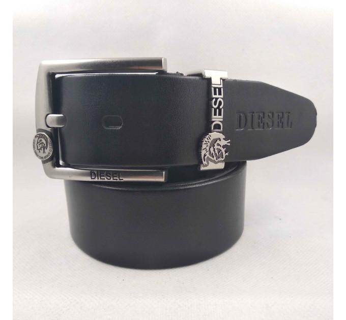 Мужской ремень джинсовый Exclusive DS40-099 черный