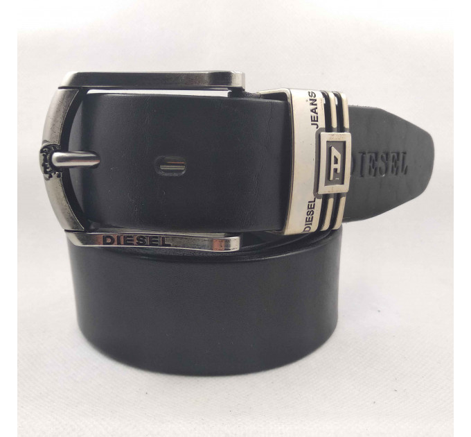 Мужской ремень джинсовый Exclusive DS40-101 черный
