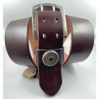 Мужской ремень джинсовый Exclusive DS45-006 коричневый