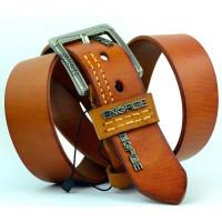 Мужской ремень джинсовый Exclusive Eg40-006 оранжевый