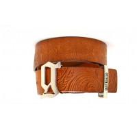 Ремень джинсовый Gl40-007 коричневый