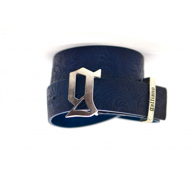 Ремень джинсовый Gl40-009 синий