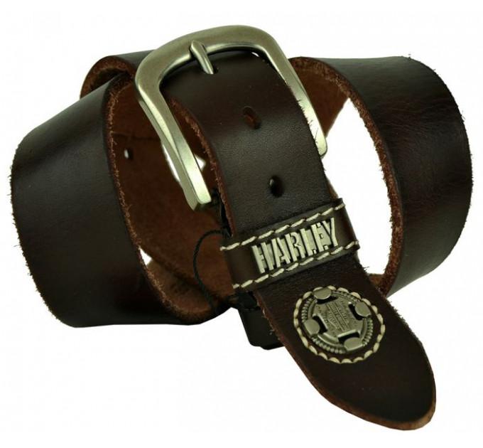 Мужской ремень джинсовый Exclusive HD40-006 коричневый