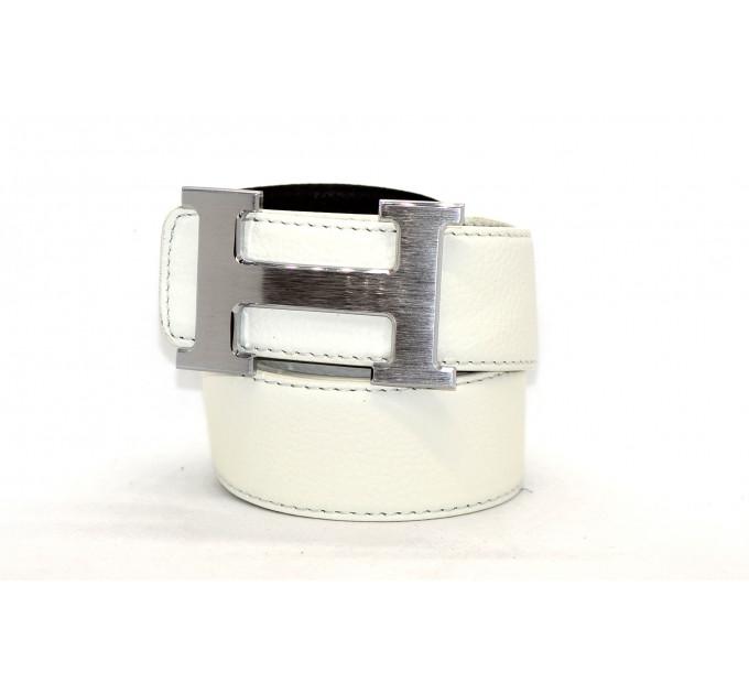 Ремень джинсовый H40-002 белый