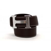 Ремень джинсовый H40-003 коричневый