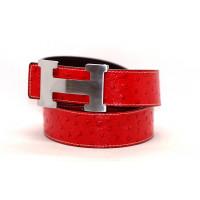 Ремень джинсовый H40-004 красный