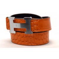 Ремень джинсовый H40-011 оранжевый