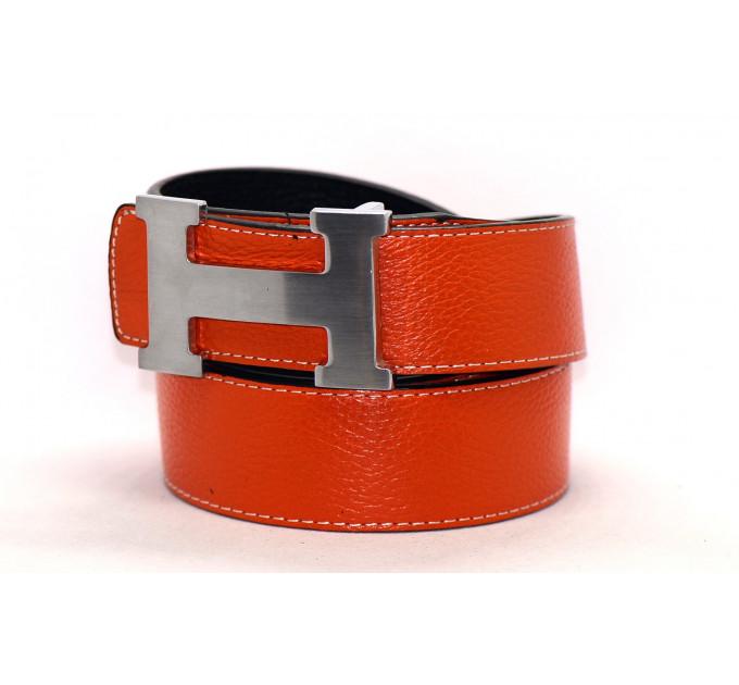 Ремень джинсовый H40-014 оранжевый