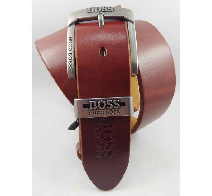 Мужской ремень джинсовый Exclusive джинсовый Exclusive hb40-043 коричневый