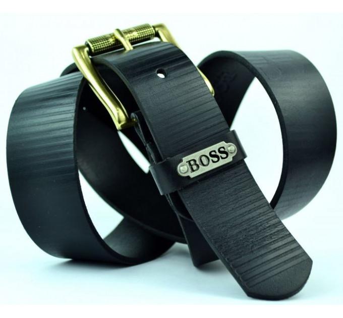 Мужской ремень джинсовый Exclusive hb40-002 черный