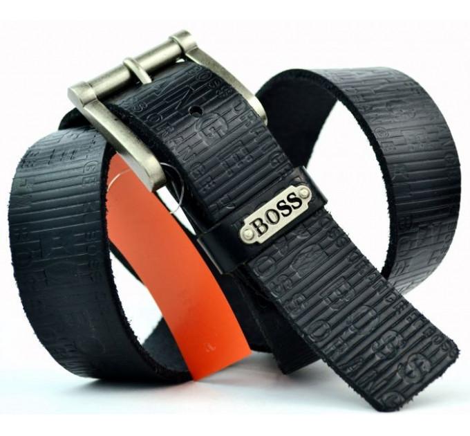 Мужской ремень джинсовый Exclusive hb40-003 черный