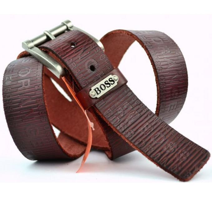 Мужской ремень джинсовый Exclusive hb40-004 коричневый