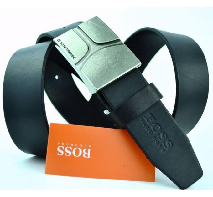 Мужской ремень джинсовый Exclusive hb40-006 черный