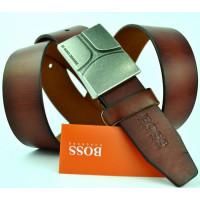 Мужской ремень джинсовый Exclusive hb40-010 коричневый