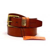 Мужской ремень джинсовый Exclusive hb40-012 коричневый