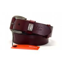 Мужской ремень джинсовый Exclusive hb40-014 коричневый