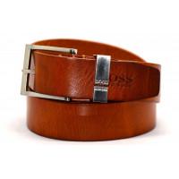 Мужской ремень джинсовый Exclusive hb40-015 коричневый