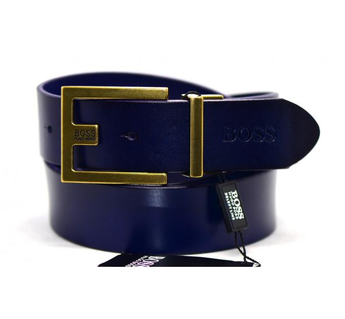Мужской ремень джинсовый Exclusive hb40-016 синий