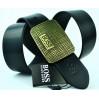 Мужской ремень джинсовый Exclusive hb40-021 черный