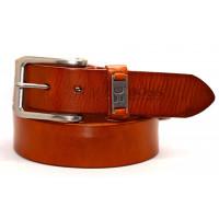 Мужской ремень джинсовый Exclusive hb40-023 оранжевый
