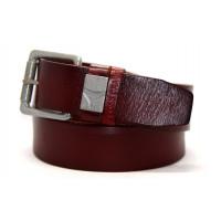 Мужской ремень джинсовый Exclusive hb40-027 коричневый