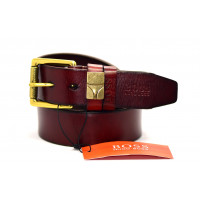 Мужской ремень джинсовый Exclusive hb40-028 коричневый