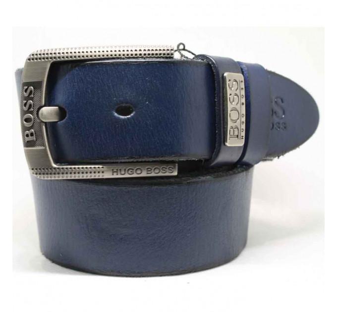 Мужской ремень джинсовый Exclusive hb40-031 синий