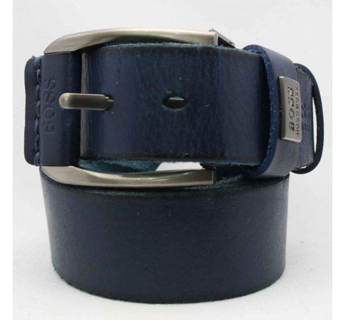 Мужской ремень джинсовый Exclusive hb40-032 синий