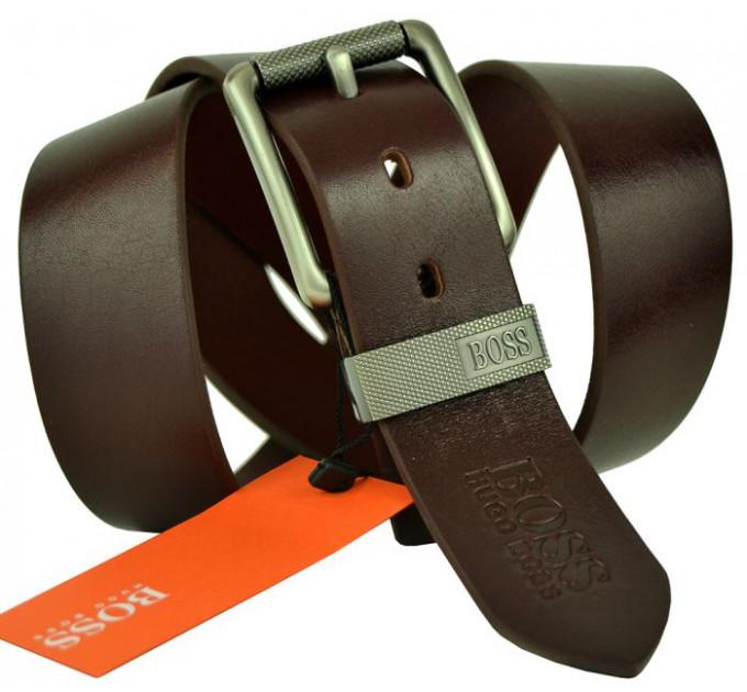 Мужской ремень джинсовый Exclusive hb40-034 коричневый